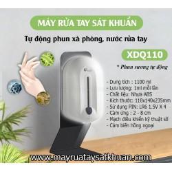 Máy rửa tay sát khuẩn xịt cồn, xà phòng cảm ứng tự động XDQ110 1100 ml